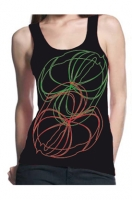 tank top green red flowers