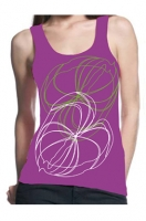 tank top white green flowers
